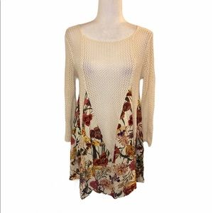 Entro floral knit top